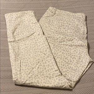 Loft Cheetah Print Curvy Skinny Jeans